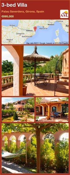 Villa for Sale in Palau Saverdera, Girona, Spain with 3 bedrooms - A Spanish Life Bedroom With Ensuite, Double Bedroom, Girona Spain, Tower Building, Mediterranean Garden, Summer Kitchen, Nature Reserve, Maine House, Wine Cellar