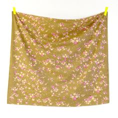 Nani Iro collection 2013 Little letter flanelle ocre