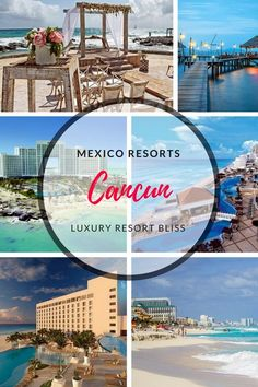 The Best Resorts in Cancun, Mexico Resort Vacation and things to do. Plan your next all inclusive family or adults vacation here. Caribbean All Inclusive, All Inclusive Family Resorts, Caribbean Vacations, Best Resorts, Vacation Resorts, Luxury Resorts, Cancun Mexico Resorts, Mexico Vacation, Mexico Travel