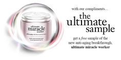 Get a free sample of the new anti-aging breakthrough, ultimate miracle worker. Follow the link and complete the sign-up form to request your free sample. Free Samples, Compliments, Anti Aging, Philosophy, Sign, Beauty, Beleza, Compliment Words, Philosophy Books