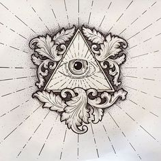 The All Seeing Eye #Watercolor #tattooflash #ink #create #creative #creativity…