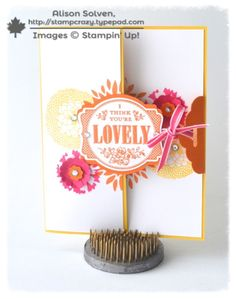 Scalloped Tag Topper Punch and You're Lovely by Allison Solven.