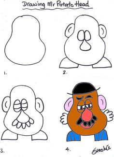 Drawing Mr. Potato Head! I think it would be fun to use Mr. Potato head as a character study project. :)
