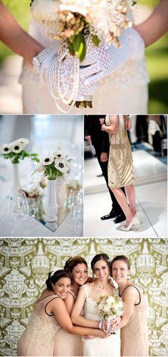 Love the reception dress! so 20's!!