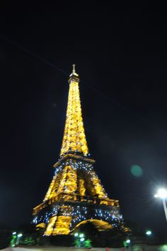 Paris - - use lights to create an Eiffel Tower backdrop?