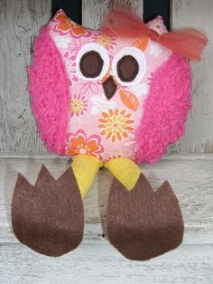 Whimsical Owl Soft Stuffed Animal Toy Plush by OurPlaceToNest, $15.00