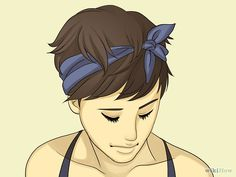 The pixie cut is the new trendy haircut! Put on the front of the stage thanks to Pixie Geldof (hence the name of this cup!), Many are now women who wear this short haircut. Asymmetrical Pixie, Short Pixie, Pixie Bob, Pixie Hairstyles, Cool Hairstyles, Bandana Hairstyles Short, Pixie Haircuts, Scarf Hairstyles, Pixie Cut Styles