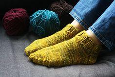 one skein bulky yarn - socks / slippers