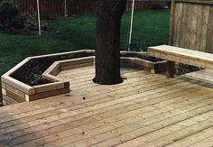 Deck with raised bed garden