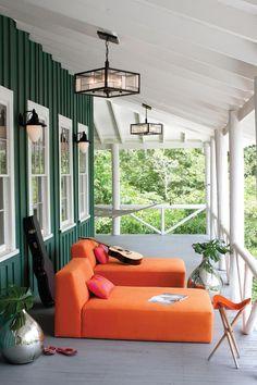 Colorful porch