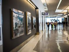 San Francisco International Airport has today unveiled its brand new United Airlines boarding area at Terminal has been transformed into a beautiful, modern transit center where you'll actually want to linger (it even has a yoga room). San Francisco News, United Airlines, Travel And Leisure, Travel Tips, The Smoke, International Airport, The Unit, Interior, Modern