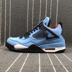 sports shoes 92bb8 84e46 NIKE Air Jordan 4 RETRO X Travis Scott Collaboration Blue Suede 308497-406  Size