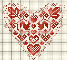 Cross stitch pattern  squirrels in heart