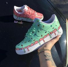 What flavor ice cream is your favorite? Comment be… – – Monika - Shoes Sneakers Tenis Nike Air, Moda Sneakers, Shoes Sneakers, Vans Shoes Outfit, Yeezy Shoes, Platform Sneakers, Jordans Sneakers, Custom Painted Shoes, Painted Vans