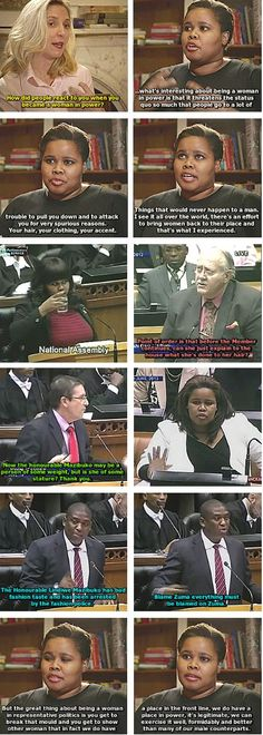 """Lindiwe Mazibuko - South African Politician - Former Parliamentary Leader for the Democratic Alliance and the first black woman to lead the parliamentary opposition in the National Assembly."" #sexism #misogyny #feminism"
