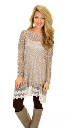 A forgiving tunic full of precious details! Available today at shopbluedoor.com