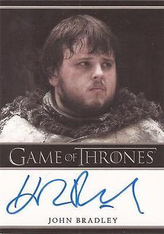 """Game of thrones #season 2 - john bradley #""""samwell tarly"""" auto / #autograph card,  View more on the LINK: http://www.zeppy.io/product/gb/2/371576421804/"""