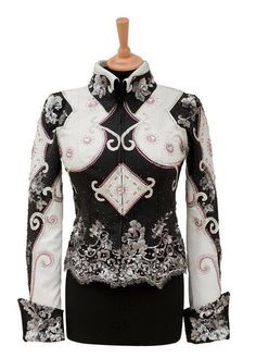 Black, white, and pink show shirt