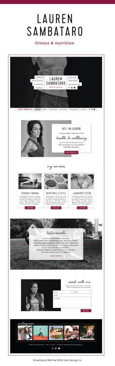 Lauren Sambataro Fitness & Nutrition Website Design by Wild Side Design Co.