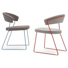 Calligaris New York Side Chair (14,370 PHP) ❤ liked on Polyvore featuring home, furniture, chairs, chrome chairs, grey furniture, cantilever chair, gray chair and calligaris chairs