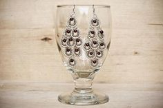 deCors: GRAPES Chandelier Earrings, Wire Jewelry Tutorial