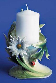franz porcelain ladybug candleholder