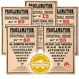 MinaLima Replica Proclamations Poster Collection