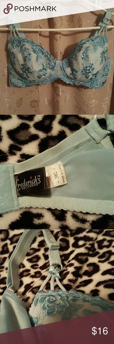 Frederick  of Hollywood  bra Blue lace bra with gel inserts to give the illusion of bigger cup size super sex you it has an underwire Frederick's of Hollywood Intimates & Sleepwear Bras