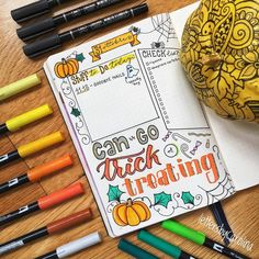29 Spooky Halloween Bullet Journal Layouts and Spreads Bullet Journal Themes, Bullet Journal Spread, Bullet Journal Layout, Bullet Journal Inspiration, Bullet Journals, Halloween Potions, Spooky Halloween, Halloween Crafts, Happy Halloween