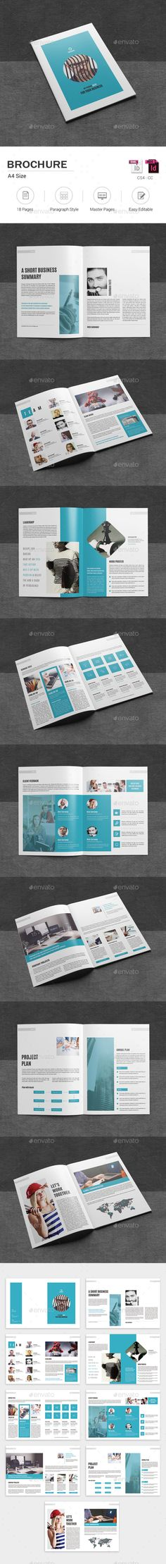 Brochure — InDesign INDD #advertising #company brochure • Download ➝ https://graphicriver.net/item/brochure/19427935?ref=pxcr