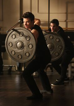 """Kurt (Chris Colfer, L) and Blaine (Darren Criss, R) take a class together at NYADA in the """"Tested"""" episode of GLEE airing Tuesday, April 15 ( Chris Colfer, Darren Criss, Series Movies, Movies And Tv Shows, Tv Series, Glee Season 5, Blaine And Kurt, Drama, Glee Club"""
