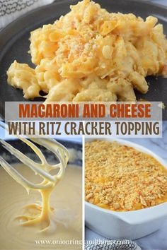 Homemade Macaroni and Cheese with creamy cheese sauce and buttery cracker topping is the ultimate comfort food. Super easy to make and delicious, you will never go back to the boxed macaroni cheese again! #sidedish #pasta #macandcheese #weeknightdinners #easymeals