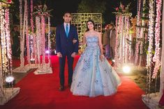 Swoon Over These Gorgeous Wedding Gowns For Reception That We Spotted. For more such information stay tuned with shaadiwish. Indian Wedding Couple, Wedding Couples, Emerald Green Gown, Lavender Gown, Beautiful Cocktail Dresses, Reception Gown, Red Gowns, Sequin Gown, A Line Gown