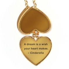 Cinderella Heart Quote Locket - Rewards - Disney Movie Rewards