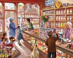 Old Candy Store (1000 Piece Puzzle by White Mountain)