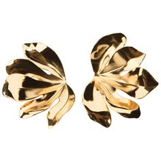 JAR Fig Leaf Earrings -gold over aluminum