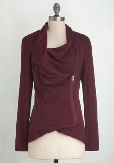 Airport Greeting Cardigan in Burgundy. Bracing yourself for a long day of travel, you take comfort in the fact that you'll be with oodles of friends and family by dinnertime! #red #modcloth