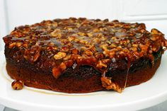 Caramel walnut upside down banana cake. Really, I must be stopped–this is out of control. One afternoon I saw a recipe for Caramel Walnut Upside-Down Banana Cake in Gourmet and it was one of those … Just Desserts, Delicious Desserts, Baking Desserts, Cake Recipes, Dessert Recipes, Bread Recipes, Caramel Recipes, Banana Recipes, Gateaux Cake