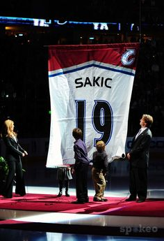 Avalanche retired Joe Sakic's #19 jersey into the rafters of the Pepsi Centre. Arguably, he is the greatest captain who led by example in NHL history.