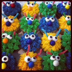 Little monster cupcakes. MadiCakes