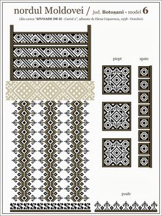 romanian embroidery pattern Simple Cross Stitch, Cross Stitch Borders, Cross Stitching, Cross Stitch Patterns, Quilt Patterns, Embroidery Motifs, Chart Design, Beading Patterns, Blackwork
