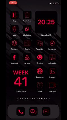 Iphone App Design, Iphone App Layout, Ios Design, App Icon Design, Black App, Red Black, App Store Icon, Iphone Home Screen Layout, Wallpaper Iphone Neon