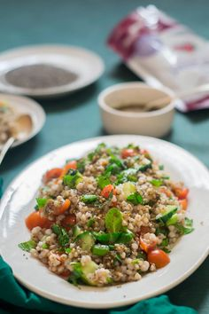Buckwheat Tabbouleh Rainbow Smoothies, Detox Diet Recipes, Acquired Taste, Vegetable Pasta, Lunch Box Recipes, Buckwheat, Different Recipes, Food Print, Dressing