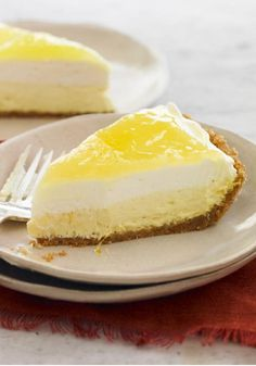 Lemon Cream Pie – This lemon cream pie is a double threat in the dessert game—with one layer of airy, lemony creaminess and another that's cheesecake-like in texture.