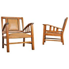 Francis Jourdain French Art Deco Modernist Pair of Armchairs, circa 1920 | 1stdibs.com