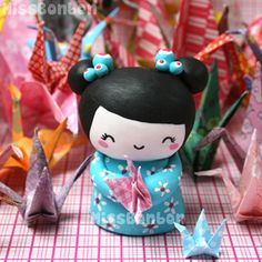 Lots of cute polymer clay creations by Missbonbon.