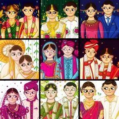 Explore more Creative Indian Wedding Invitation Design and Illustration at www.scdbalaji.com