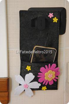 Porta ricettario natalizio in feltro le mie creazioni in for Porta kleenex feltro