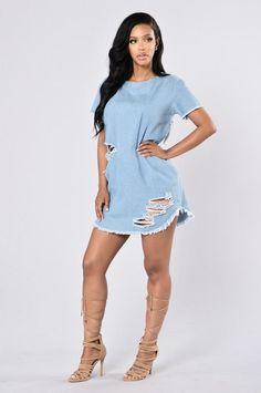 Favorite Denim Dress - Medium Blue