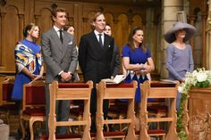 Camille, Pierre, Andrea, Alexandra and Caroline at the christening of the twins, 5.10.15
